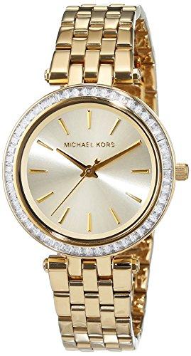 Michael Kors donna-Orologio da polso al quarzo in acciaio inox MK3365