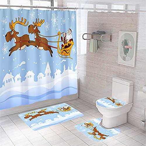 Duschvorhang, schneeweißes Schloss, wasserdicht, schimmelresistent, Polyester, 180 x 180 cm