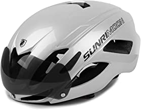 SUNRIMOON Bike Helmet with USB Rechargeable Safety Rear Light Detachable Magnetic Goggles, CPSC and CE Safety Standard Adjustable Size Mountain & Road Bicycle Cycle Helmets for Adult Men/Women