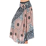 ACMEDE 2 in 1 Boho Harem Vestito - Donna Thai Harem Pantaloni Palazzo Vita Alta Vintage Stampa, Pantaloni Larghi di Yoga Allentati Estate delle Donne Pantaloni della Tuta Aladdin dei Boho