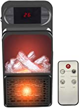 WYYZSS Mini Estufa Eléctrica Calefactor Cerámico de Aire Caliente de Ventilador - Calefactor Portátil Pared con Pantalla Digital con Temporizador Ajustable para el Hogar/Oficina