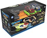 Mindscope Twister Tracks Trax 360 Loop 15' (feet) of Neon Glow in the Dark Magic Track with Two Light-Up (Pulse LED) Vehicles City Vehicle Series by Mindscope