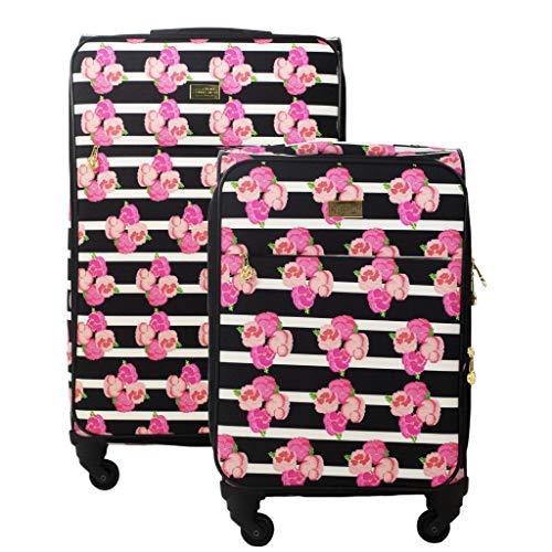 Macbeth Collection Women's Petunia 2 Piece Spinner Luggage Set, Magenta