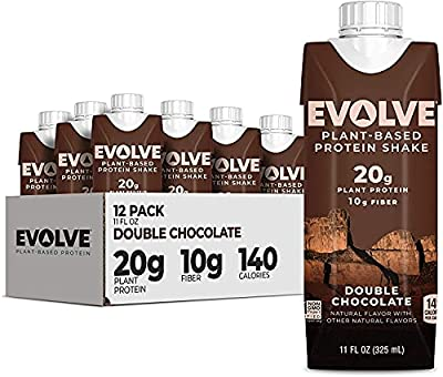 Evolve Plant Based Protein Shake, Double Chocolate, 20g Vegan Protein, Dairy Free