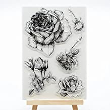 Welcome to Joyful Home 1pc New Flower Rubber Clear Stamp for Card Making Decoration and Scrapbooking