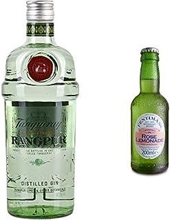 Tanqueray Rangpur Lime Distilled Gin 1 x 0.7 l mit Fentimans Rose Lemonade, 12er Pack 12 x 200 ml