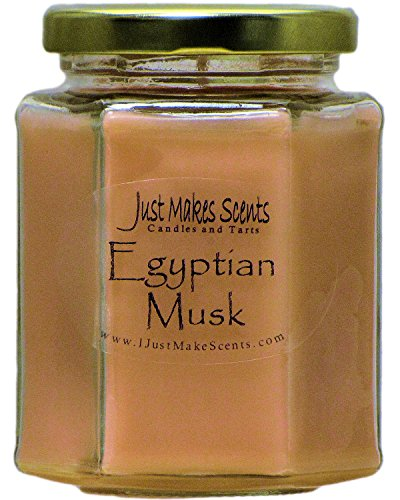 Just Makes Scents Egyptian Musk Scented Blended Soy Candles (8 oz) …