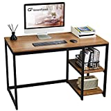 GreenForest Computer Desk 47 inch with Storage Space Home Office Work Desk with 2-Tier Shelves Modern PC Workstation Study Writing Laptop Table, Brown