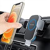【2021年進化版】Aouevyo 車載ワイヤレス充電器 15W急速 車載ホルダー スマホホルダー 車 自動開閉 エアコン吹き出し口用 360度回転 iPhone 12 / 12pro / 12 pro max /12 Mini / 11 / 11pro / 11 promax/XS/XR / 8 / Samsung S8 / S9 / S10 などqi機種対応 4.0-7.0インチに対応