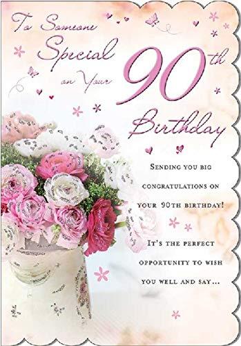 STUNNING TOP RANGE WONDERFULLY WORDED 5 VERSE SOMEONE SPECIAL 90TH BIRTHDAY...