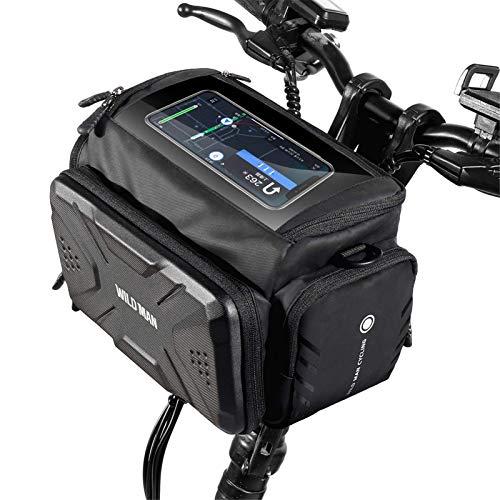 AoFeiKeDM Bolsa de manillar EVA Hard Shell impermeable Scooter eléctrico Bolsas delanteras plegable bicicleta profesional Ciclismo Accesorios adecuados para senderismo montañismo al aire libre