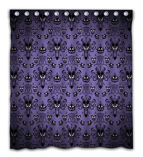Gdcover Happy Halloween Haunted Mansion Design Waterproof Shower Curtain Fabric for Home -
