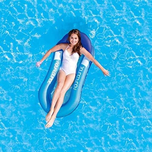 YLJYJ Hamaca Flotante Inflable de Agua de Verano, tumbonas para Piscina para Adultos y niños, Balsas de PVC para Piscina 160 x 90 cm (Juguetes para Piscina)