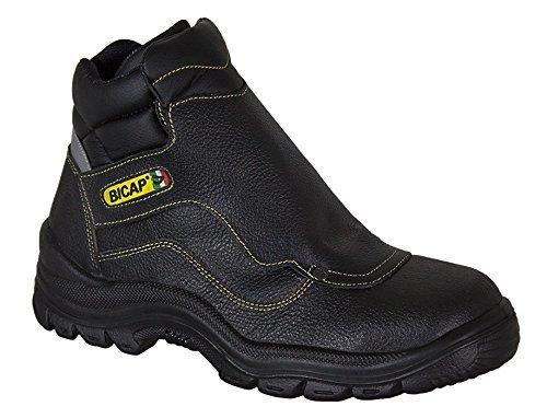 BICAP Arbeitsschuh (A 4570/2I K S3 SRC) aus Leder mit Ristschutz (Spannschutz) mit Stahlkappe und Stahlsohle EN ISO 20345:2011 - Sicherheitsschuh - Stahlkappenschuh - für Damen und Herren (42)