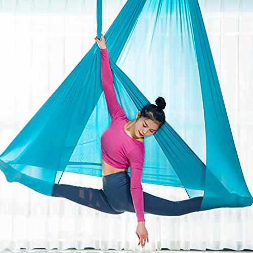 PaNt Columpio de Yoga Aéreo,900KG Tela Gasa Carga Máxima Antideslizante Durable Transpirable 5 * 2.8 m Columpio Antideslizante Yoga Antigravedad, Ejercicios Parada de Manos