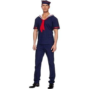 hhalibaba Disfraz de Talla Grande Azul Marino para Hombres Adultos ...