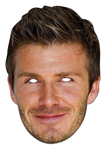 Party Bags 2 Go - Maschera in cartone che riproduce il viso di David Beckham