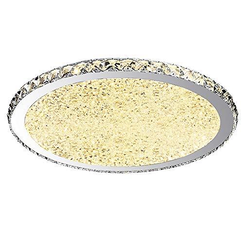 Lámpara de techo LED Plafones cristal redonda Acero inoxidable Pantallas de aluminio,...