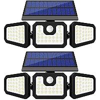 2-Pack GSBLUNIE IP65 Waterproof 74 LEDs Solar Motion Sensor Lights