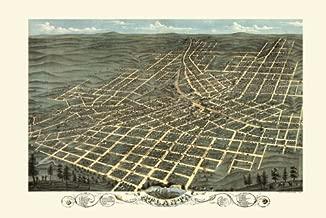 1800's City of Atlanta Georgia Map Bird Eye View 12