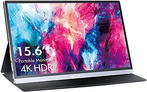 Dragon Touch モバイルモニター 4K 15.6インチIPS液晶モバイルディスプレイ 100%色域 HDR ゲームモニター Type-C/Mini HDMI/PC用モニター PS4/XBOX/Switch/PC/Macなど対応 スタンドカバー 付き 3年保証 S1 Pro