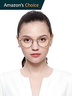 Blue Light Blocking Myopia Reading Glasses Aviator Lightweight Transparent Lens Computer Myopia Reading Glasses 100% UV Protection Anti Eyestrain/Anti Scratch/Anti Smudg Eyeglasses 2.5X