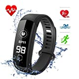 L8star Waterproof Fitness Tracker with Heart Rate Blood Pressure Monitor...