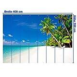 Vliestapete Südsee VT30 Größe:360x270cm, Fototapete, Vlies Tapete, High Quality, PREMIUM Bildtapete, Tapete Strand Meer Palme - 4