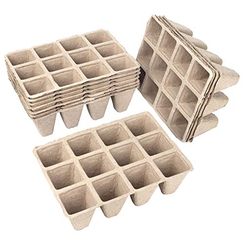 Schramm® Anzuchttöpfe aus Zellulose Höhe 5 cm für 144, 240 oder 360 Pflanzen biologisch abbaubarer Pflanztopf, Anzahl:144 Stück