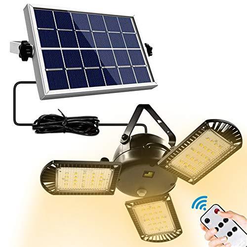 Zotonale ソーラーライト 分離式 3灯式 最新版 防犯ライト 屋外 明るさ/角度調整可能 暖光 60LED 防水 5m延長コード リモコン付き 壁掛け/玄関/駐車場/車道/庭