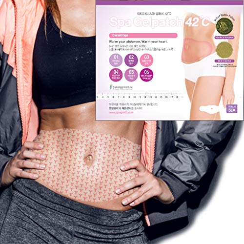 Body Applicator Wrap Slimming Firming Heating Abdomen Legs Arms, 8 Hours Sauna Suit Effect with Capsaicin Caffeine Natural Ingredients, 0.02 Inch Thin Patch Type Adhering to Skin, spa gelpatch 42℃