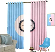 YSING Bedroom Drapes,Text Graphics Geometry Letter,Modern Farmhouse Country Curtains,W96 x L96 Inch