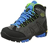 Bruetting MOUNT BONA HIGH KIDS, Jungen Trekking- & Wanderstiefel, Grau (GRAU/BLAU/LEMON), 39 EU (5 Kinder UK)*