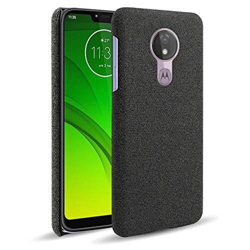 """YINCANG Moto G7 Power Capa, Capa Elegante para Celular Feita Tecido Feltro Alta Qualidade [Proteção da Câmera] Adequada para Motorola Moto G7 Power 6.2"""" - Preto"""