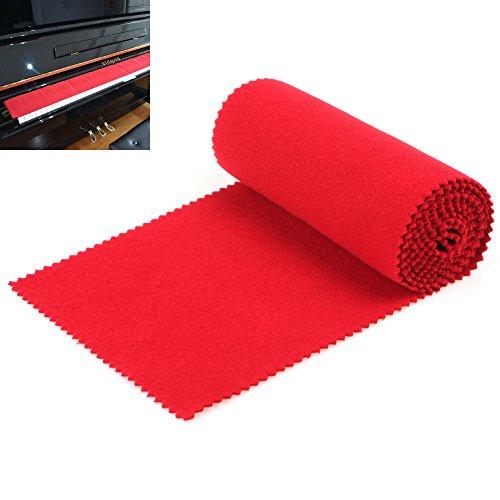 Guardapolvo suave rojo OriGlam para teclado de 88 teclas. Pa