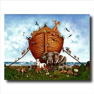 Noah's Ark Animal Religious Kids Room Wall Picture Art Print 16x20