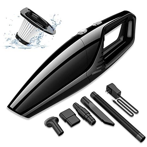 helloleiboo Car Vacuum Cleaner Cordless High Power Suction Handheld...