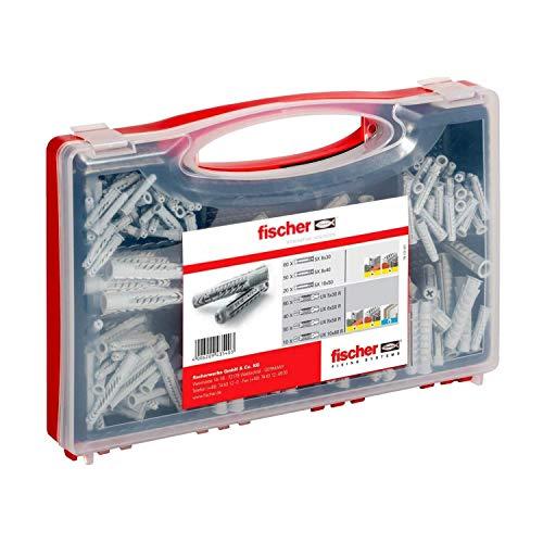Fischer 43540 Redbox SX UX 290 Dübel für die Befestigung von Hängeschränken, Regalen, Lampen, TV-Halterungen, Regalen