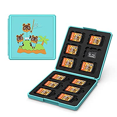 UFOPETIE Game Card Case for Nintendo Switch Game Card,Compatible Animal Crossing Switch Game Case,Shockproof Hard Shell Box,Carrying Case for Animal Crossing Merch Animal Crossing Switch Accessories