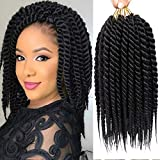 Karida 12inch Havana Twist Crochet Hair 6Pack/Lot Havana Twist Crochet Braids Jumbo Senegalese Twist Synthetic Crochet Braiding Hair Extensions 12 Roots/Pack (1B)