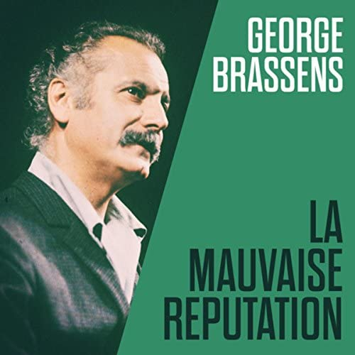George Brassens et sa guitare