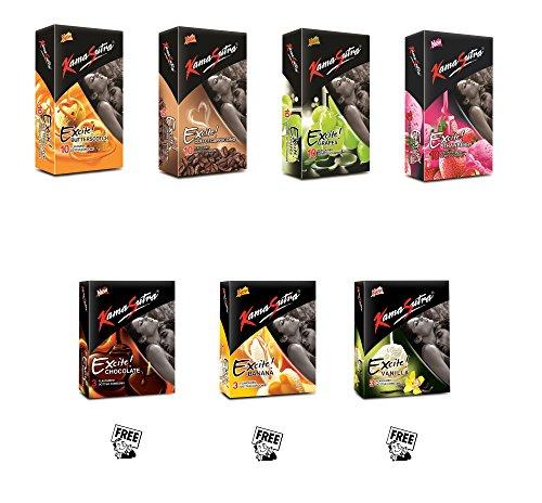 Kamasutra Excite Series honeymoon condoms package - 50 condoms
