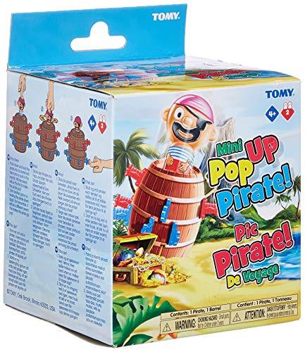 TOMY T72461 Kinderspiel Pop Up Pirate - Reiseedition, das hochwertige Aktionsspiel für die Familie. Das beliebte Geschicklichkeitsspiel zur Motorikförderung kommt nun im Reiseformat. Ab 4 Jahren