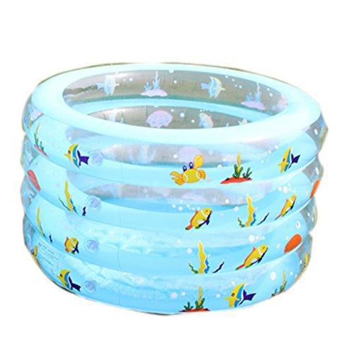 Piscina Inflable Infantil Redondo Barril de baño Engrosamiento natación Cubo niños Juego de bebé Piscina Ejercicio Interior (Tamaño : 60 * 100cm)
