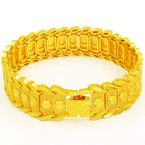 LIANGJING Vergulde armband trend mannen pruim horloge ketting
