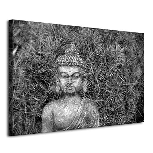 Black and White Buddha Picture Wall Art Living Decor Modern Poster and Print Canvas Painting Wall Decor (No Framed,20x30in)