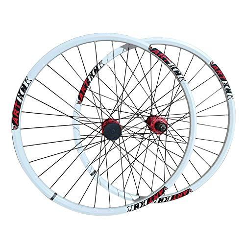 TYXTYX Juego de Ruedas de Bicicleta MTB 26 Pulgadas Freno de Disco Ruedas de Bicicleta Llanta de aleación de Doble Capa Bujes de liberación rápida para Casete de 7-11 velocidades