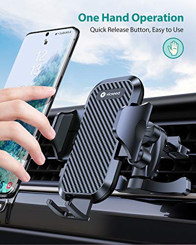 VICSEED 2020 Upgrade Ultra Stable Car Phone Mount Easy Clamp Universal Car Phone Holder Air Vent Cell Phone Holder for Car Fits for iPhone SE 11 Pro XS Max XR Galaxy S20 S20+ Note 20 10 10+ All Phones