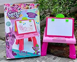 My Little Horse 3 in 1 Drawing Board-Chalk Board, Projection Painting & White Board