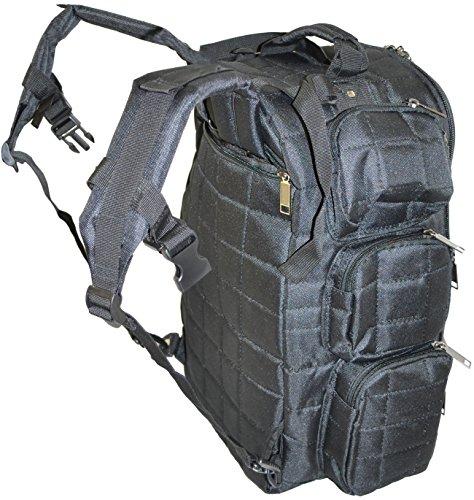 Explorer Tactical Rangemaster Gun Range Bag Backpack Deluxe Tactical Divider Gear Bag (Black Color)